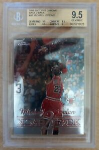 Michael Jordan 1998-99 Topps Chrome Back 2 Back #B1 BGS 9.5 GEM MINT
