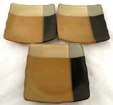 Sango GOLD DUST BLACK Square Plate set of 3 #5022