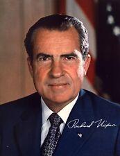 RICHARD NIXON - Repro-Autogramm 20x26cm Großfoto (37. US Präsident)