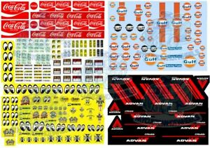 All-Stars Decal Pack B   Best Selling Mix for Hot Wheels & 1:64 Scale Model Cars