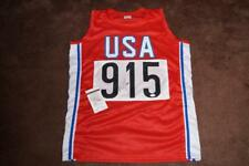 USA OLYMPIC GREAT CARL LEWIS SIGNED JERSEY JSA