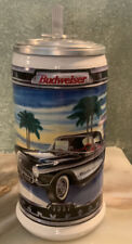L.E. Budweiser Classic Car Series 2nd Ed. 1957 Chevrolet Corvette Lidded Stein.