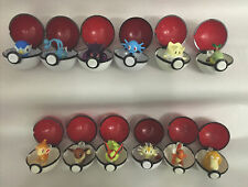 Lot of 12 Pairs Pokemon w/ Pokeball Collectible 1999 & Up Figures Balls Vintage