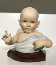 Cybis Porcelain Limited Edition #13 Baby Bust - Signed Blue Blanket RARE EUC