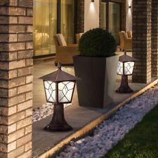 Juego de 2 exterior pie Lámparas jardín Linternas aluminio CASA ENTRADA BIG