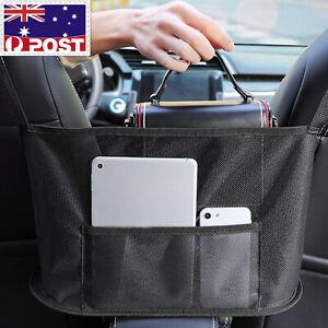 Car Net Pocket Handbag Holder Between Seats Organizer Purse Storage Mesh Bag AU