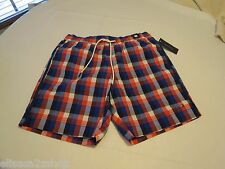 Men's swim trunks board shorts Tommy Hilfiger L LG ipoppy red 637 7869683 checks