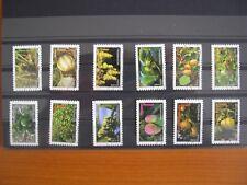 Série complète fruits  2012 (YT 686 à 697), 12 timbres