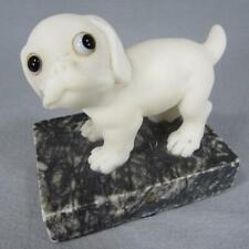 New ListingFolk Art Alabaster Sculpture Pop Eyed Bulldog Boxer Pug or Puggle Puppy Dog