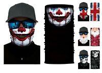 Seamless Bandana Face Covering Mask Biker Gaiter Tube Snood Scarf Neck Cover UK