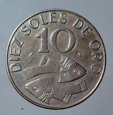 #AN -  Peru 10 diez Soles de oro 1969