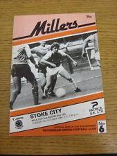 09/10/1984 Rotherham United v Stoke City [Football League Cup] (Folded, Mark On