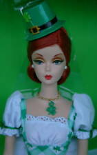 SHAMROCK CELEBRATION BARBIE NRFB #1 Repro STAND with Prongs VINTAGE FACE ! 2014