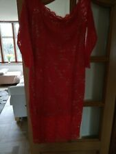 Coast coral lace Bardot dress size 16