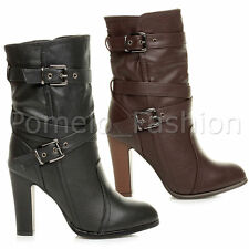 Women's Synthetic Leather Pull on High Heel (3-4.5 in.) Boots