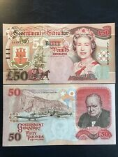 UNC Gibraltar £50 Fifty Pound Banknote 2006 Issue P-34