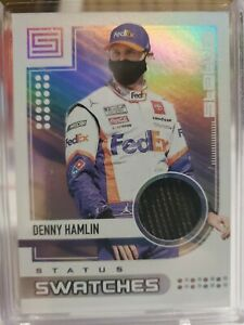 2021 Status Chronicles Racing Denny Hamlin Swatches Race Worn/Used Relic Nascar