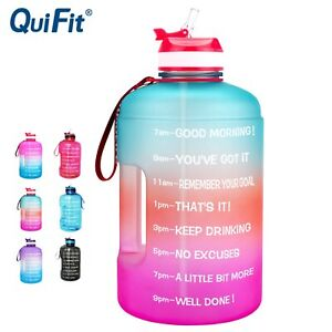 Water Bottle with Straw Clear Plastic Drinking GYM Tool Jug BPA Free Sports Cup