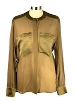 ESCADA Silk Sheer Blouse Margaretha Ley Size US 8 Vintage Made In West Germany
