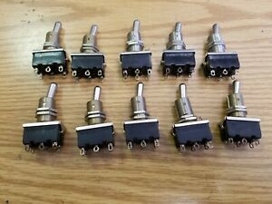 Lot of 10  DPDT Toggle Switches  for model train layouts  lionel mth