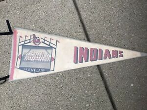 Vintage 1960's Cleveland Indians Pennant Major League MLB Indian Mascot