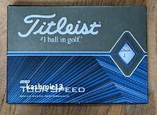 2 dz - Titleist Tour Speed Golf Balls - White