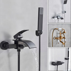 Badewannenarmatur Wasserfall Wannenarmatur Dusch Set Wasserhahn mit Handbrasue