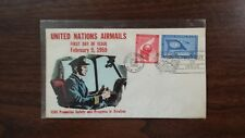 United Nations Air Mail Cover First day Issue February 9, 1959 to Promote Safety