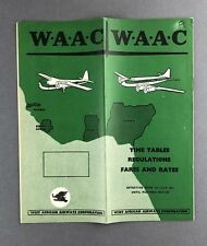 WEST AFRICAN AIRWAYS WAAC TIMETABLE JULY 1957 STRATOCRUISER DC-3 HERON