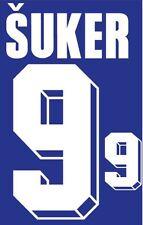 Suker #9 Croatia 1994-1996 Away Football Nameset for shirt