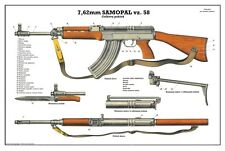 Color POSTER #2 Of Czech Republi Sa58 Vz58 Vz 2008 7.62x39 Rifle LQQK & BUY NOW