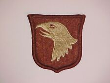 US ARMY 101ST AIRBORNE DIVISION DESERT TAN AFGHANISTAN OEF IRAQ OIF SWA PATCH