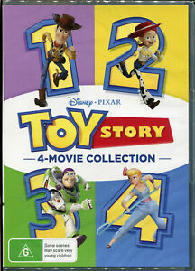 Toy Story 4 Movie Collection Quadrilogy 1 2 3 4 BRAND NEW Region 4 DVD GENUINE