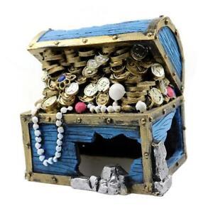 Jewel Case Treasure Chest Aquarium Fish Tank Ornament Decoration Accessories