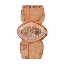 Orologio ALVIERO MARTINI 1°CLASSE ref PCH 848/2VU Donna rosè in pelle mappa GEO