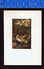 Adoration of the Shepherds - Anbetung der Hirten - Guido Reni 1927 Lithograph