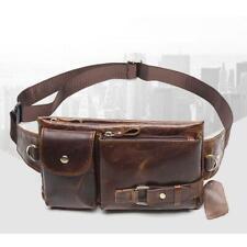 Men Genuine Leather Fanny Pack Waist Bag Shoulder Bags Crossbody Leisure Bag