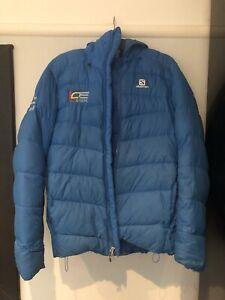Salomon Mens Blue Puffa Jacket Size L
