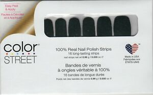 CS Nail Color Strips Scot Topic Green Glitter 100% Nail Polish- USA Made!