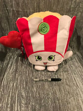 "Shopkins Poppy Corn Plush 13"" Just Play Valentine Red Heart Balloon"
