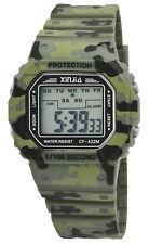 Digitaluhr Stoppuhr Uhr Sportuhr Sport Xinjia Herren Digital Camouflage Army