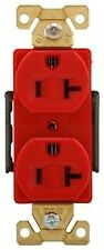 COOPER AH5362RD RECEPTACLE DUPLEX 20A125V 2P3W BRASS STRAP BACK & SIDE WIRED RD