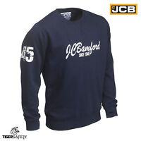 JCB Bamford Ltd Edition Navy Blue Sweatshirt Sweater Jumper Work Top Pullover