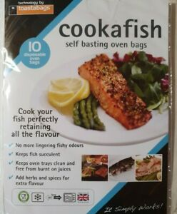 cookafish -10 easy cook oven bags - cooks fish perfectly - reduces smell!