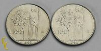 1963 & 1964 Italy 100 Lire Coin Lot of 2 in BU, KM# 96.1