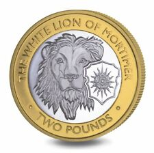"""2021 BIOT 2 pounds.""""QUEEN'S BEASTS"""" #6. WHITE LION OF MORTIMER. PROOF! PREORDER!"""