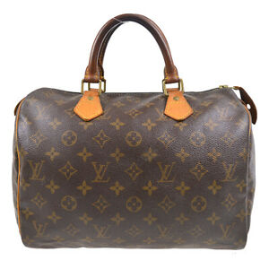 LOUIS VUITTON SPEEDY 30 HAND BAG PURSE MONOGRAM CANVAS M41526 TH0032 92822