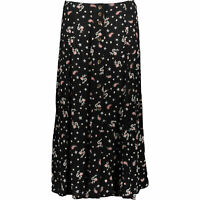 SUPERDRY Women's LAYLA MAXI Skirt, Black/Petra Paisley, size M / UK 12