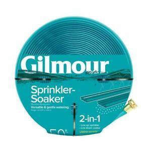 5/8 in. Dia. x 50 ft. All-in-One Sprinkler Soaker Hose, Durable Plastic Gilmour