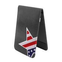 New Craftsman Golf Gray Scorecard USA Star Embroidered Yardage Book Holder Cover